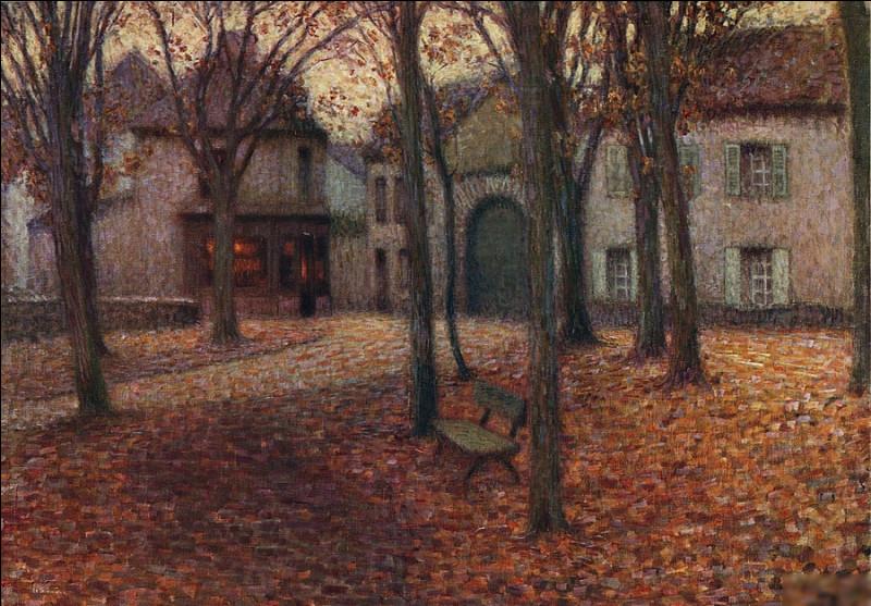 """Quel pointilliste a réalisé """"Le Village en automne"""" ?"""