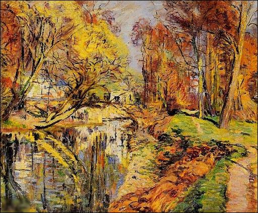 """Quel peintre est l'auteur du tableau """"Les Rives de l'Orge à Epinay"""" ?"""