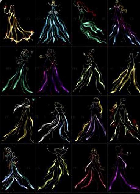 Les silhouettes Disney