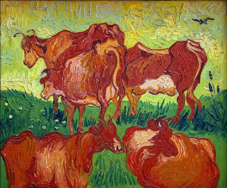 Qui est l'auteur de ce tableau intitulé ''Les Vaches'' ?