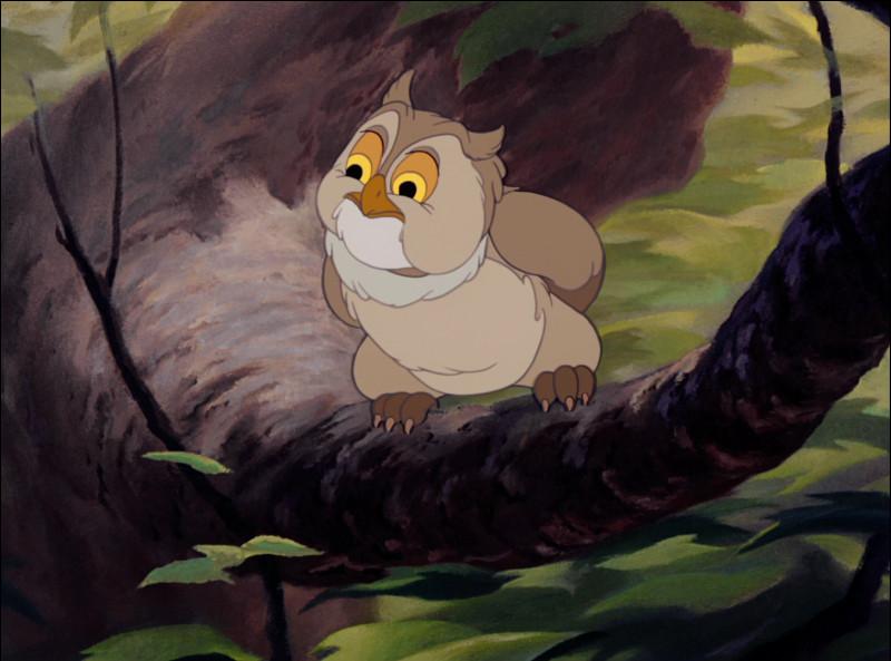 Dans quel dessin animé Disney, sorti en 1942, peut-on voir Monsieur Hibou ?