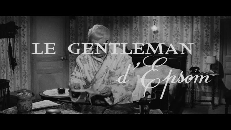 """""""Le Gentleman d'Epsom"""" est le titre d'un film joué par Jean Gabin."""