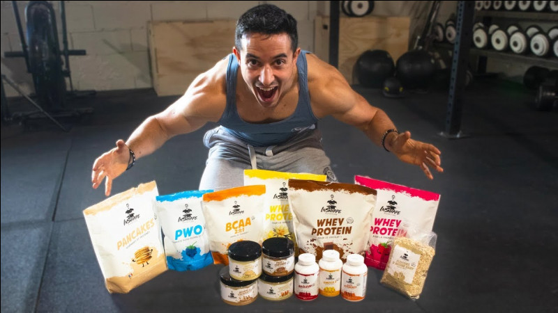 Comment s'appelle la marque de compléments alimentaires que ce youtubeur très sportif a sorti le 1er octobre 2019 ?