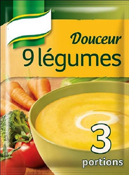 Quelle marque a lancé en 1873 les premières soupes de légumes déshydratées ?