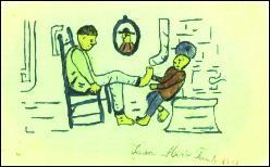 Ce dessin intitulé 'la pédicure' est le tout premier dessin que nous possédons d'un artiste. Il avait 8 ans lorsqu'il la dessiné. De qui s'agit-il ?