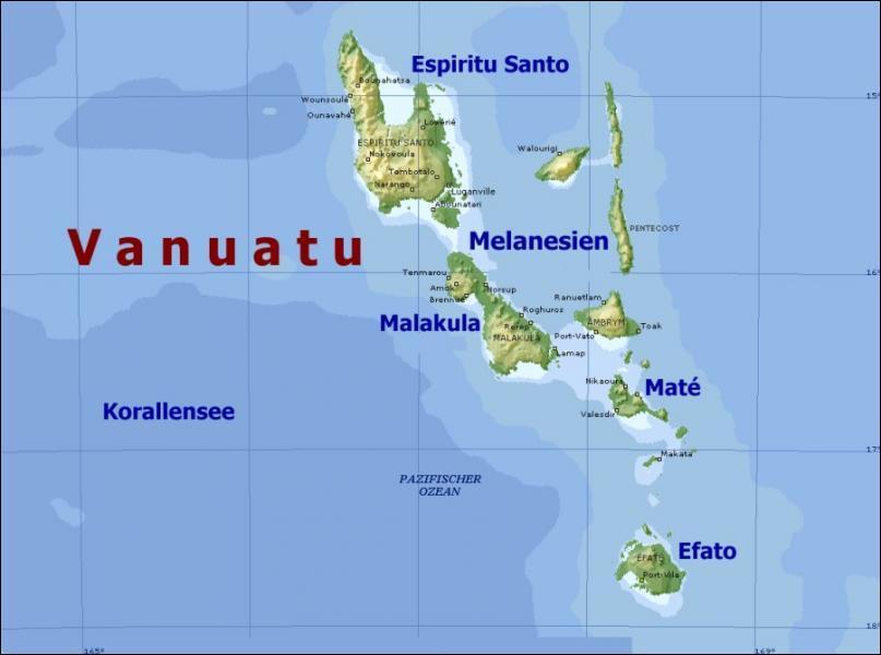 La capitale du Vanuatu est Port-Vila, ses habitants sont Vanuatuans et la monnaie utilisée est nommée vatu