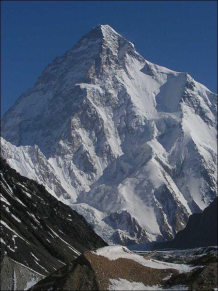 Géographie : Le K2, d'une altitude de 8611 m, situé dans l'Himalaya, est le deuxième plus haut sommet du monde. Il est aussi connu sous le nom de :