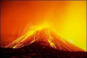 Pour les grecs, quel volcan abritait la forge d'Héphaïstos ?