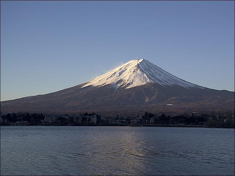C'est la montagne sacrée la plus célèbre du Japon :