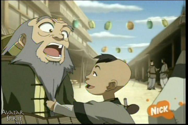 A Ba Sing Se, l'oncle de Zuko ouvre :