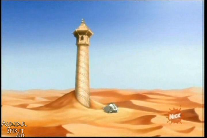 L'avatar est son groupe trouvent dans le désert :