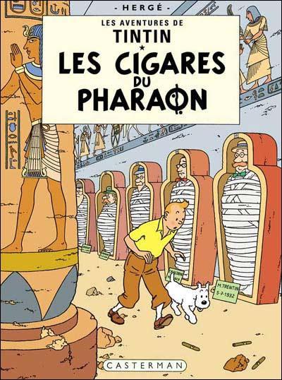 Quel animal Tintin réussit-il à dompter grâce à une flûte dans 'Les Cigares du Pharaon' ?