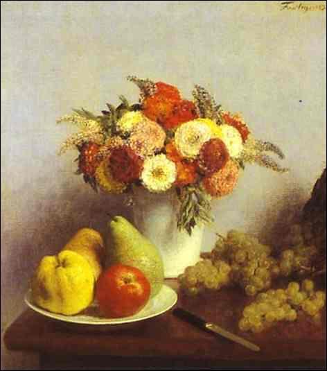 Quel peintre ayant travaillé dans l'atelier de Courbet a réalisé 'Fleurs et fruits' ?