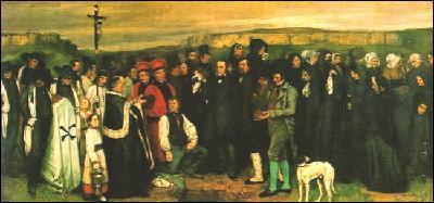 Quel fondateur du réalisme a réalisé 'Un enterrement à Ornans' ?