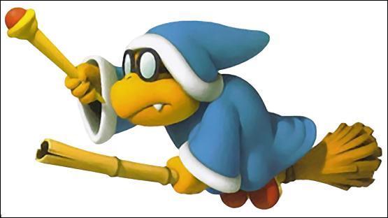 Quelles sont les formes sortant de la baguette de Kamek dans un grand nombre de jeux ? (Mario Party 8 par exemple)