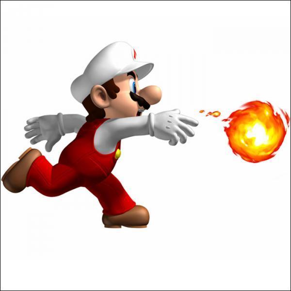 Quel objet permet à mario de cracher des boules de feu ?