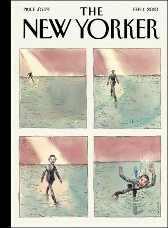 En 2008, Obama n'avait pas apprécié un dessin du New Yorker qui le représentait :
