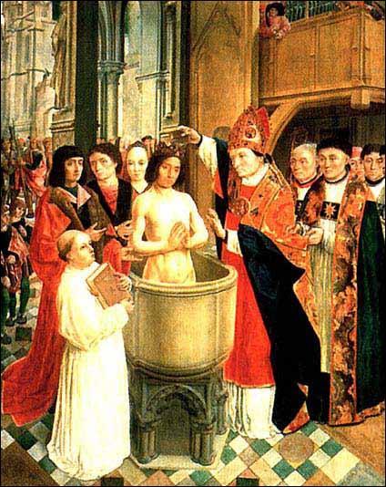 Donne le nom du roi des Francs qui se fait baptiser en 496