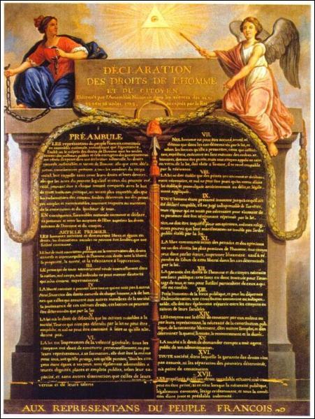 Quel est ce texte qui a été écrit en 1789 ?