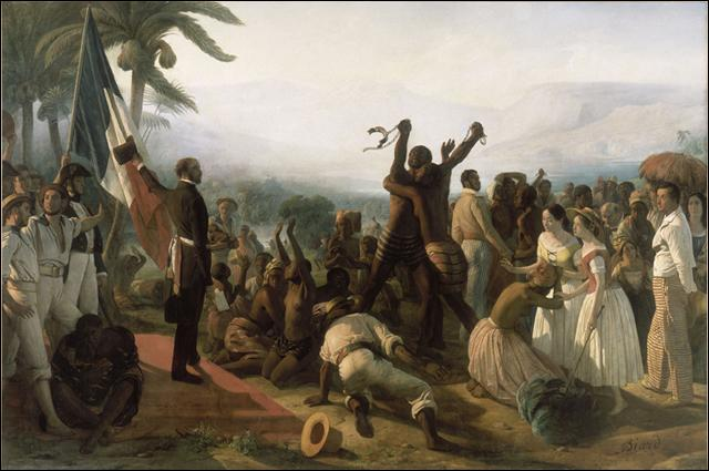 De quand date l'abolition de l'esclavage en France et le suffrage universel masculin ?