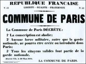 De quand date l'épisode de la Commune de Paris ?
