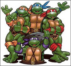 De quel couleur étaient les bandanas des quatres tortues ninja dans les comics d'origine ?