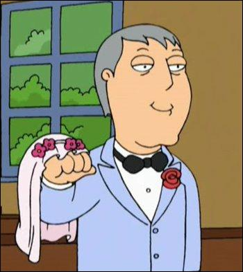 Quel acteur, ayant déja incarné Batman, prête sa voix au maire de Quahog dans Les Griffin (Family Guy) ?