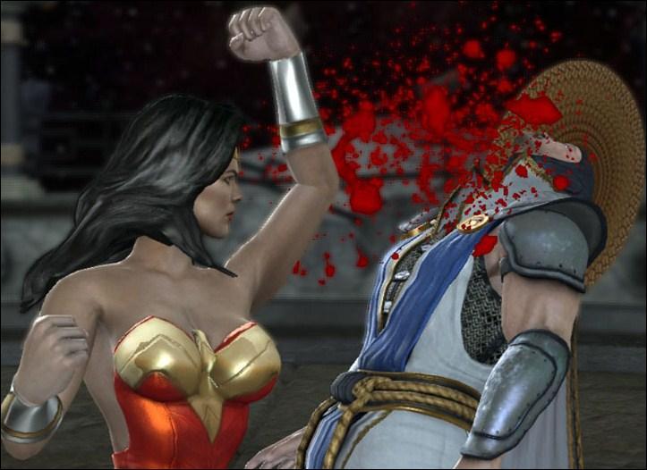 Qui voit-on au premier plan de la jaquette de Mortal Kombat vs DC Universe ?