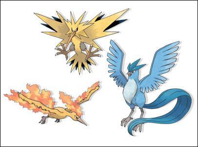 Quels sont les trois oiseaux légendaires ?
