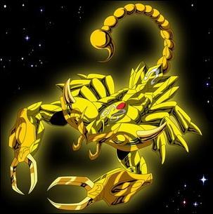 Quel est le nom du chevalier d'or du Scorpion ?