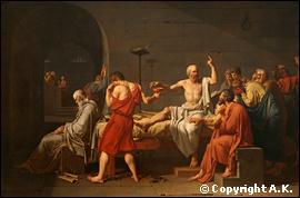 Quel peintre néoclassique a réalisé 'La mort de Socrate' ?
