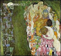 Quel peintre chef de file de l'Art nouveau a réalisé 'Mort et vie' ?
