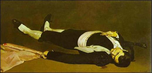 Quel peintre réaliste a réalisé 'Le toréador mort' ?