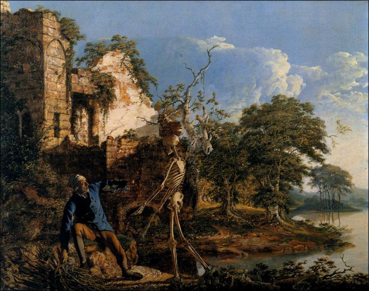 Quel peintre anglais a réalisé 'Le vieil homme et la Mort' ?