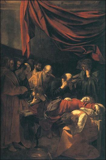 Quel peintre baroque a réalisé 'La mort de la Vierge' ?