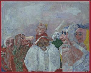 Quel peintre symboliste a réalisé 'La mort et les masques' ?