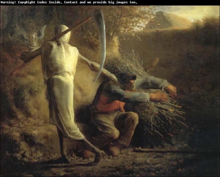 Quel peintre réaliste a réalisé 'La mort et le bûcheron' ?