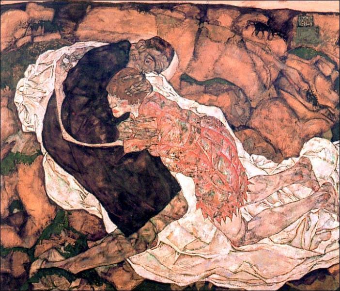 Quel peintre expressionniste a réalisé 'La Jeune fille et la Mort' ?