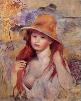 Qui a peint Fille au chapeau de paille ?