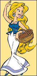Comment s'appelle cette jeune femme dont le livreur de menhirs est amoureux ?