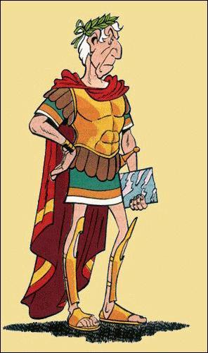 Comment s'appelle le chef des romains ?