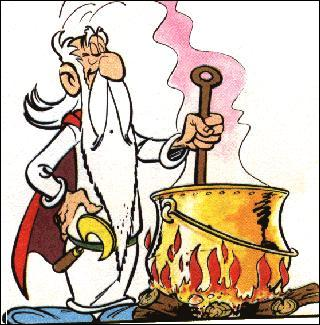Comment s'appelle le druide qui détient le secret de la potion magique ?