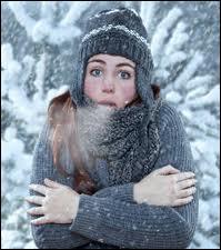Lorsqu'il fait très froid on dit qu'il... .