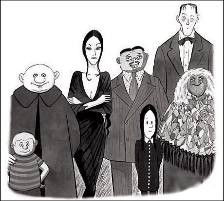 Quel est le prénom de l'illustrateur et créateur de la famille Addams ?