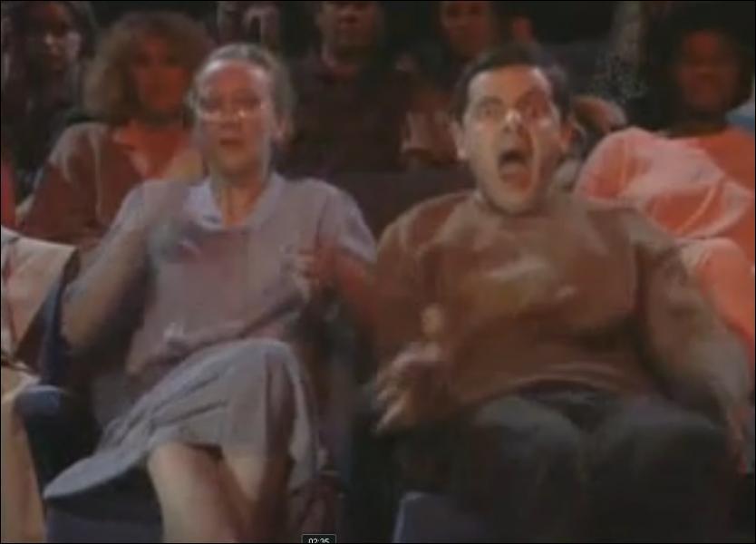 Dans Les Malheurs de Mr Bean, quel film d'horreur vont voir Mr Bean et sa copine ?