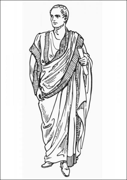 Tenue vestimentaire romaine.