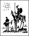 Cheval de Don Quichotte qu'on admire ici sur une oeuvre de Dali :