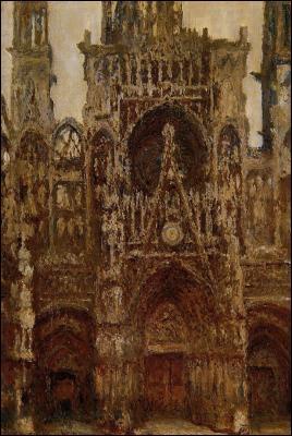 Qui a peint 'La cathédrale de Rouen' ?