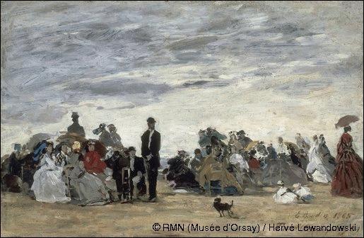Qui a peint 'Sur la plage de Trouville' ?