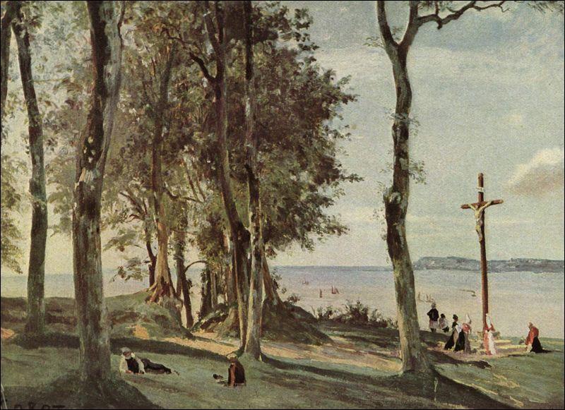 Qui a peint 'Le calvaire de la Côte de Grâce, Honfleur' ?